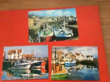 3 X FISHING BOATS, THE HARBOUR, PITTENWEEM POSTCARDS