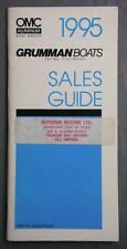 Orig 1995 Outboard Marine Corp Grumman Boats Dealer Pocket Sales Guide Booklet