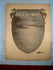 Over The Waves Antique Sheet Music Piano Solo Juventino Rosas Sobre Las Olas (O)