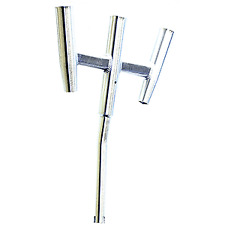 Manifish Marine Boat Yacht 304 Stainless Steel Wall//Side Mounted 3 Rod Rack Fishing Rod Holder