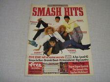 SMASH HITS 09 (23/4/86) FIVE STAR SIGUE SIGUE SPUTNIK DIRE STRAITS CURE R TAYLOR