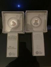 Mr Jeremy Fisher & Tom Kitten 2017 50p Silver Proof Coin Set