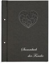 Din A4 Stammbuch der Familie Dany, Ornamentherz, anthrazitfarben, Stammbücher