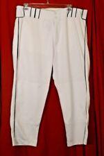 "BOOMBAH BASEBALL SOFTBALL Pants  44"" waist Short 26"" inseam White Green"