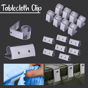 Table Cloth Clips 12pcs Tablecloth Cover Plastic Holder Garden for Table Skirt