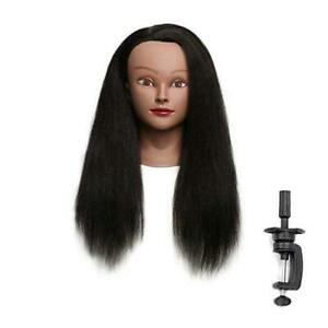 """100% Real Hair Mannequin Head with stand, 18"""" Hairdresser Cosmetology 18''"""