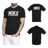 Nike Men's Athletic Wear Regular Fit Contrast Outlined Logo Graphic Gym T Shirt