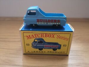 Matchbox Series No.60 Morris J2 Pick-up Type D2 Series Box (NO REAR WINDOW)