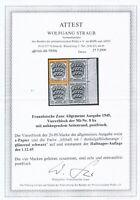 FRZ. ZONE 1945, Mi. 8 b x **, Farb- und Papierabart gepr. BPP!! Mi. 120,--!!