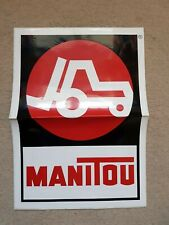 MANITOU FORKLIFT DECAL