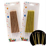 6Pcs Long Pencil Cake Topper Candle Safe Flames Birthday Party Wedding Cake