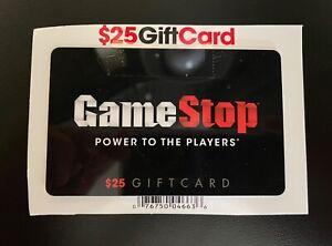 $25 Gamestop Gift Card Collectible Card