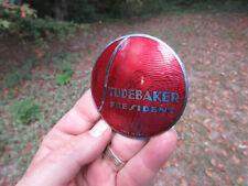 """Antique Vintage Studebaker President Radiator emblem 2 3/4"""" Cloisonne badge"""