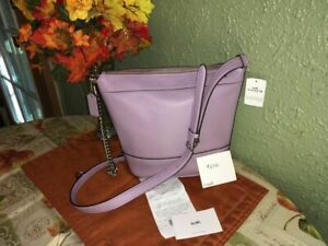 NWT Coach F76668 Small Paxton Chain Daffel Lilac Leather MSRP $328 76668