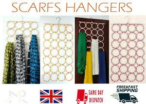 Scarf Hanger Circular Wardrobe Space Organiser Storage Ties Belt + UK SELLRS
