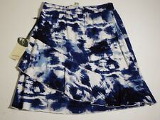 Womens Skirts Nurture Casual Knee Length Blue And White Layers medium