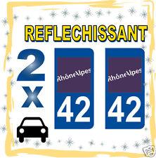2 stickers REFLECHISSANT département 01 rétro-réfléchissant immatriculation