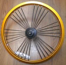 """MONGOOSE GOLD/BLACK 20"""" FRONT BIKE BICYCLE RIM/HUB RMRT106"""