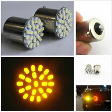 1 Pair 12V T20 1156 BA15S Yellow 22-SMD LED Car Tail Turn Signal Lights Bulbs