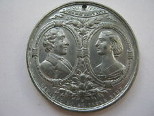1863 Marriage of Albert and Alexandra medal in white metal, 38mm.