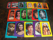 Topps---Star Wars---Stickers---Lot Of 16---See List