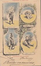 CK87.Vintage French Postcard. Little boy doing a handstand.