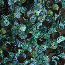 10mm Flat Round Loose SEQUIN PAILLETTE~ Van Gogh STARRY NIGHT Blue Green Premium