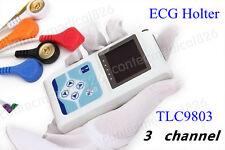 NEW 3 canali dinamici ECG/EKG Holter ECG TLC9803 24Ore analizzatore Contec New