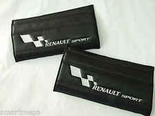 Ceinture de Sécurité Fixation Plaquettes pour Renault Sport,Noir cuir PU,Jeu 2