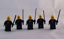 Lot of 5 black Lego ninja samurai warriors mini figures mini fig people men 2631