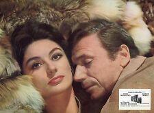 ANOUK AIMEE  YVES MONTAND  UN SOIR... UN TRAIN 1968 VINTAGE PHOTO LOBBY CARD N°1