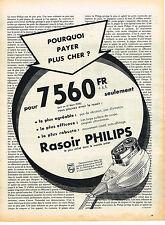 PUBLICITE ADVERTISING  1958   PHILIPS   rasoir