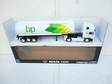 1:43 DIECAST MAN  TRUCK & TRAILER  BP GASOLINE  BY NEW RAY NEW OVP RARE!!!