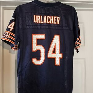 Chicago Bears Jersey Brian Urlacher #54 Navy Reebok NFL Equip YOUTH Large 14-16