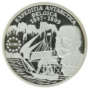 Romania - Silver 100 Lei Coin - 'Antarctic Expedition' - 1999 - Proof