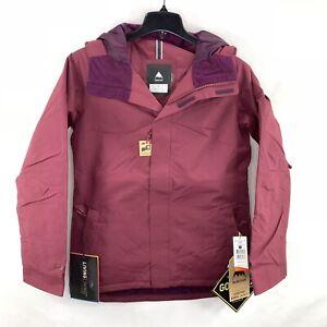 Burton Women's Rubix Gore-Tex Snow Jacket - Sangria/Maroon Red Size Medium