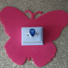Beautiful Silver Ring With Tanzanite Gemstone Size O 12  Gr. 4.1  In Gift Box