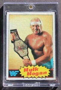 Hulk Hogan 1985 Topps Rookie Card WWF Wrestling #1 Yellow RC WWE MUST LOOK - B