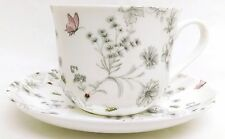 Secret Garden Large Cup & Saucer Bone China Breakfast Set Hand Decorated in UK