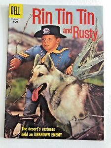 1957 Issue # 19 Rin Tin Tin And Rusty Western Silver Age Dell Comic Book  NICE!!