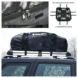 15 Cubic Feet Roof Top Cargo Carrier Bag Car Luggage Bag Waterproof Storage Box