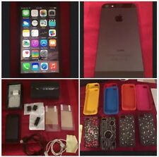 Apple iPhone 5 Black 64GB AT&T + Box + Lot 11 Gel Hard Cases 2 Screen Protectors