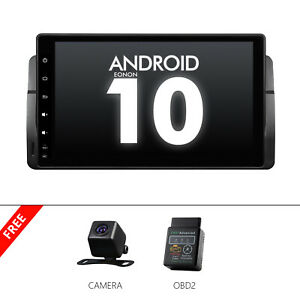 """CAM+OBD+For BMW E46 M3 9"""" Android 10 Car Stereo GPS Touch Screen Radio No DVD CD"""