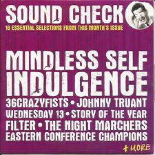 SOUND CHECK - No 110 - VARIOUS ARTISTS ~ 16 TRACK ROCK SOUND PROMO MUSIC CD