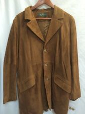 NWOT -Orvis. -Mens Leather Suede Blazer Jacket -Brown -Poly Lined -Sz S/M