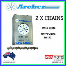"2 x CHAINSAW CHAIN 12"" FITS STIHL  3/8 LP .043 MICRO MS170 180 190T 44DL HT"