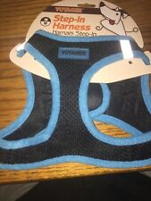 """New listing Voyager Unisex Blue & Black Step-In Dog Harness sz M 16-18"""" Chest"""
