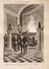 Initiation of Rose-Croix, Taxil Hoax, 1890's, Vintage Freemason Poster