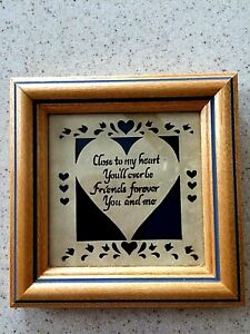 """Designs With Scissors Scherenschnitte Framed Picture """"Close to My Heart"""""""