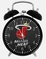 "Miami Heat Alarm Desk Clock 3.75"" Home or Office Decor W219 Nice For Gift"